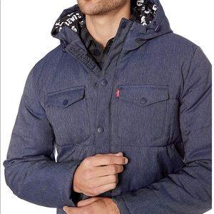 New Levi's Man Hooded Ultra Loft Jacket